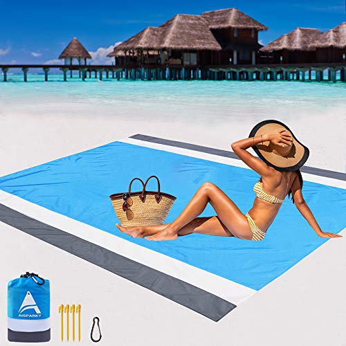 AISPARKY Beach Blanket Oversized 82″ X79″ Sand Proof Beach Mat $16.49 (50% Off with code)