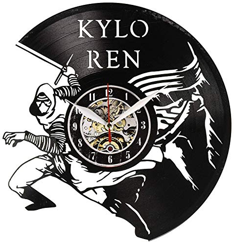 La Bella Casa Kylo Ren Fictional Character Vinyl Wall Clock Gift Modern Gift Handmade Gift Vintage Gift Amazing Gift Personalized Gift Friendship Party GiIft Idea for Teens Gift for Him Her