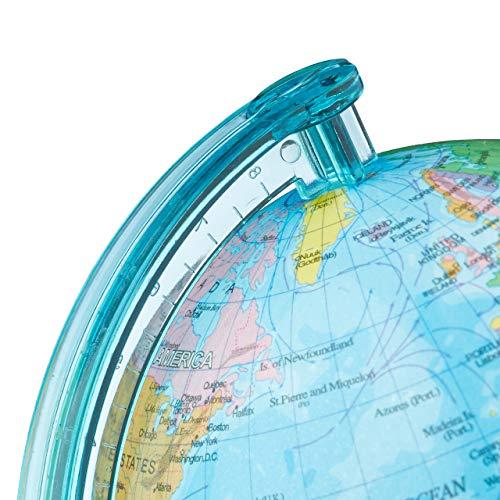 Relaxdays Spardose Globus HxBxT: 16,5 x 14 x 14 cm, politische Weltkarte, englische Beschriftung, Weltkugel, bunt - 6