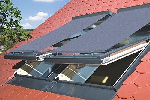 Netzmarkise in Grau (Außen) für Skylight und Skylight Premium Dachfenster 66x118