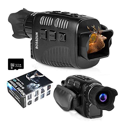 """Visión Nocturna Digital Monocular Cámara infrarroja Videocámara Visores ópticos 4x25 mm 960P HD con 1.5 """"TFT Grabación de Pantalla Interior Toma de fotografías para vigilancia al Aire Libre Caza"""