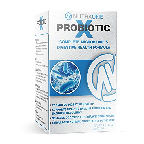 ProbioticX Probiotic Supplement for Women & Men by NutraOne – Digestive Health & Immune Support Probiotics (30 Capsules)