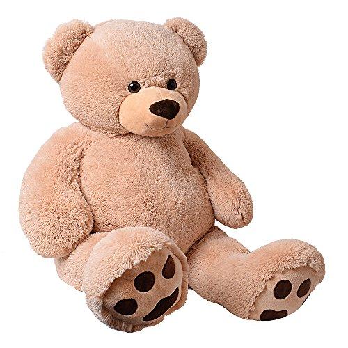 TE-Trend XXL Riesenteddybär Plüsch Kuscheltier Riesenplüsch Riesenteddy Bär Rico beige 135 cm mit Tatzen