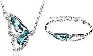 Jewelry Set Sterling Silver Jewelry Necklace Amethyst Zircon Platinum Platinum Couple Pendant Chain Accessories