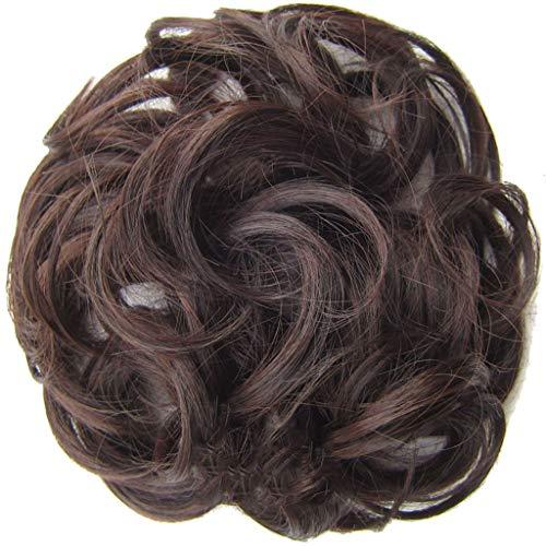 Zolimx Einfach zu tragen Haargummi Haarteil Haare für Haarknoten Gummiband Hochsteckfrisuren Haarband Einfach zu tragen stilvolle Haar Kreis Frauen Mädchen Haar Kreis Gummibänder