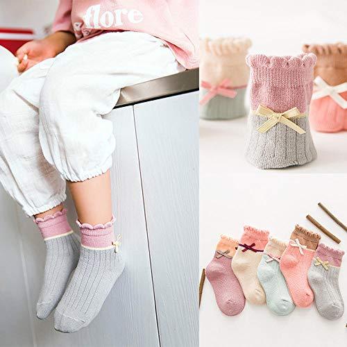 FENGYUN 10 stks kinderen sokken vier seizoenen buis sokken gekamd katoen schattige mannen en kinderen sokken baby sokken