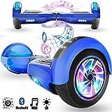 Magic Vida 6.5´´ Patinete Eléctrico Bluetooth Scooter Monopatín LED Atractivo(Camuflaje Rosa)