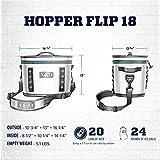 YETI Hopper Flip 18 Portable Cooler, Fog Gray/Tahoe Blue