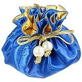 TropicaZona Satin Drawstring Jewelry Pouch,...