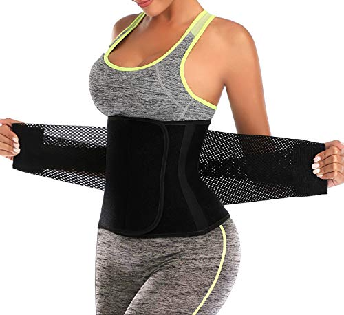 ChongErfei Taillentrainer für Damen, Taillenmieder, Bauchweggürtel – Sport-Gürtel (Hot Pink, Größe L)