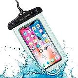 Funda Impermeable Móvil Universal IPX8 con Bolsa Sumergible Agua Estanca Acuática Playa | iPhone 12 XR XS X SE 11 9 8 7 6s Plus Samsung S20 plus A71 Xiaomi Mi 10 Huawei P30 BQ Aquaris (Transparente)