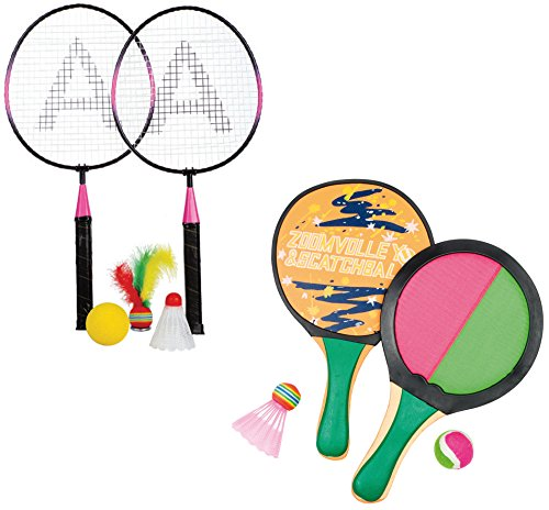 Haberkorn Beach Ball Set Badminton Beachball Klettball Soft Tennis 5 Bälle