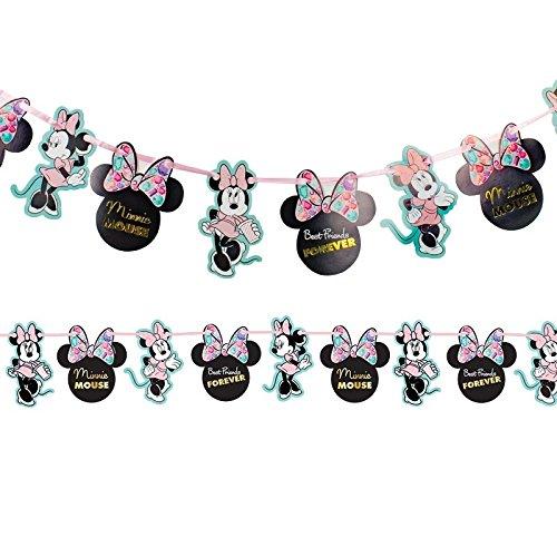 Procos guirnalda de decoración met de papel 2MT Minnie Party Gem, Multicolor, 5pr88980