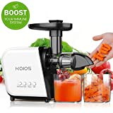 KOIOS Slow Masticating Juicer Extractor Machines ≤60 dB, Reverse Function & 7 Level Longer...