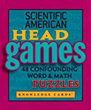Scientific American: Head Games - 48 Confounding Word & Math Puzzles Knowledge Cards Deck