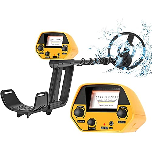 SEAAN Metal detector impermeabili con LCD e jack per auricolari, 2 modalità, metal detector leggeri regolabili con segnale acustico per bambini Adulti Principianti Professionisti