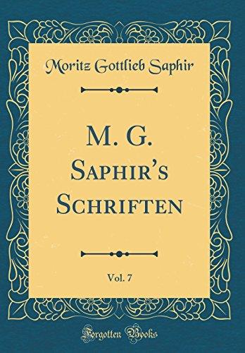 M. G. Saphir's Schriften, Vol. 7 (Classic Reprint)