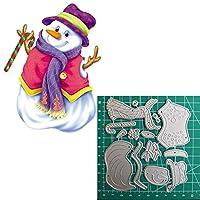 冬の雪だるま金属切削は工芸製紙カードを挨拶エンボスステンシルのためにDIYフォトアルバムインテリアダイス (色 : A153)