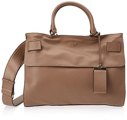Guess HWVG6781070, Bolso de Mano Mujer, Marrón, 13x22.5x28.5 cm
