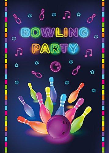 12 Einladungskarten Bowling Mädchen Jungen Geburtstag Erwachsene Kindergeburtstag Geburtstagseinladungen Einladungen Geburtstagsparty Kartenset