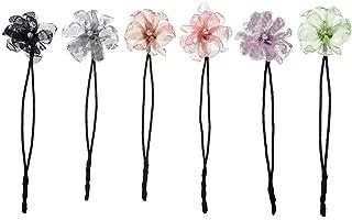 Yantu 6 Pcs Magic Hair Bun Maker Pearl Flower Donuts Twist Headband French Twist Donut Clip DIY Hairstyle Tool