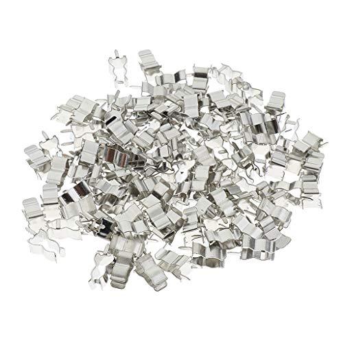 Homyl 100pcs Porte-fusible Clips Fusible Collier De Serrage en Alliage Fusibles Titulaire De Soudure 5x20mm