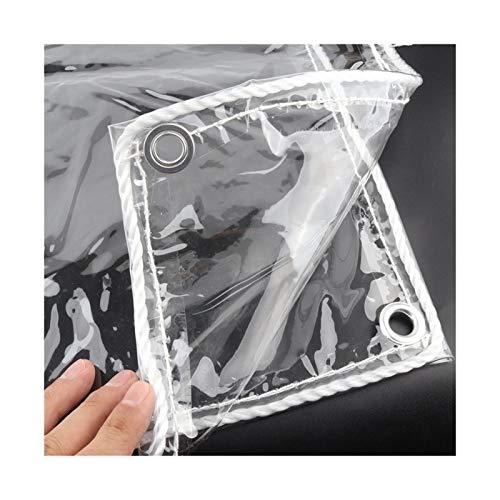 Tarra de plástico PVC Impermeable con Ojales Cubierta Plegable Cubierta de Lluvia, Grosor 0.3mm (Color : 1.2x2 m)