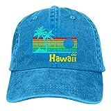 Optional 80s Retro Vintage Hawaii Gorra de béisbol para hombres mujeres ajustable Denim Vacaciones Jeans Sombreros Sombrero de Papá