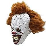 Unbekannt Pennywise Mask Horror Overhead Clown Maske Halloween Kostüm Party Gruselig Gruselig Dekoration Requisiten Kostümzubehör Erwachsener
