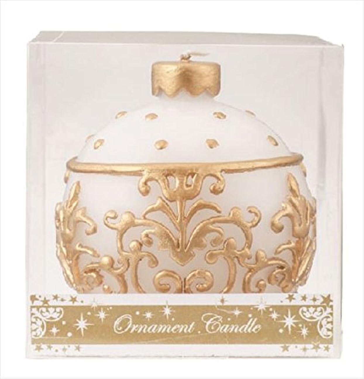 冷ややかな時折シャンパンカメヤマキャンドル(kameyama candle) オーナメントキャンドル 「 ホワイト 」