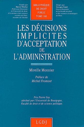 Les Dcisions Implicites Dacceptation De Ladministration