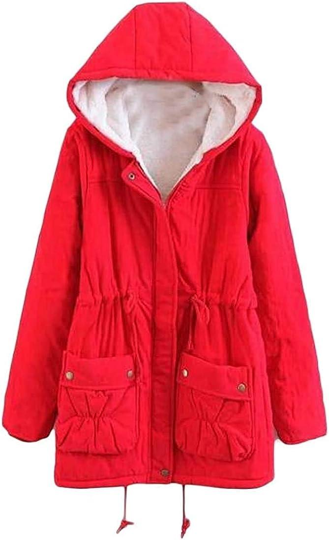 andrea scott Women's Hooded Lined Anorak Casual Parka Jacket Coat