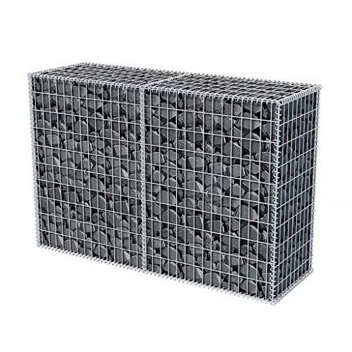 Gabione 150 x 50 x 100 cm befüllbarer Steinkorb Steinzaun Sichtschutz Lärmschutz Maschenweite - Gartenzaun Wand Mauer Spiral Gabionen