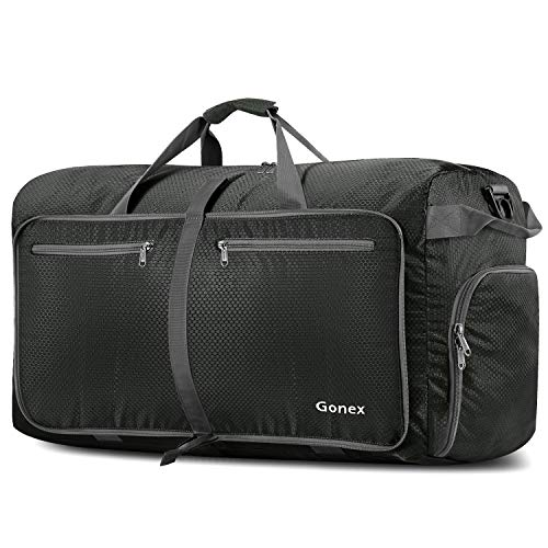 Gonex 100L Foldable Travel Duffel Bag, Over-Sized Luggage Travel Duffle (Grey)