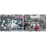 Educa Guernica, P, Picasso Panorama Puzzle, 3 000 Piezas, Multicolor (11502) + Ámsterdam Puzzle, 3000 Piezas, Multicolor (16018)