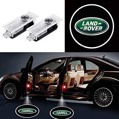 KVCH 2 pezzi Luce di benvenuto Porta auto LED Logo del proiettore Fantasma Ombra Luci per Evoque Discovery 4 Freelander con il dispositivo di rimozione della tappezzeria della porta