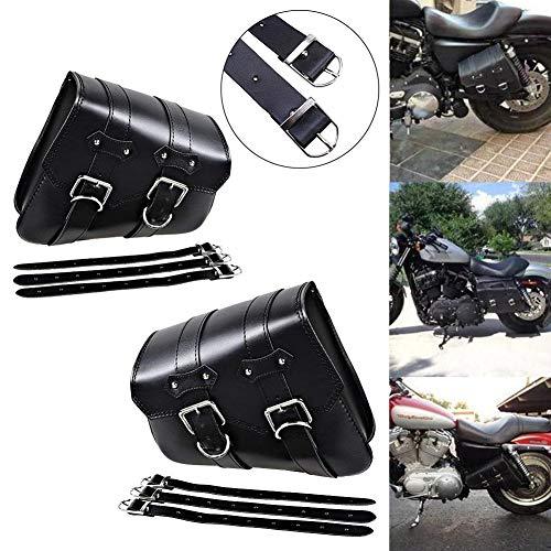 Gfyee Motorrad Satteltaschen Wasserdicht Leder Satteltasche, Seitentasche Motorrad Universelles Motorradtasche Vintage Chopper Tasche GepäCktasche - Taschenpaket Passend FüR Harley (2Pc)