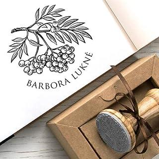 Ex libris Timbro Ramo Albero Sorbo Bacche Frutti Kraft Carta Scatole Regalo