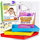 Puzzle Trays for Sorting Jigsaw Puzzle Pieces - 5-in-1 Puzzle Accessories Puzzle Organizer Set: Puzzle Sorting Trays, Puzzle Saver, Adhesive Wall Hangers, Blank Puzzles and Puzzler's Activity E-Book