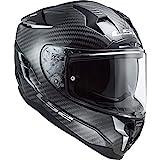 LS2 Casco de moto NC FF327 CHALLENGER CARBON, Blanco, L
