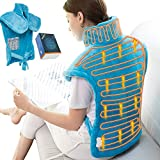 Electric Heating Pad for Neck, Shoulder and Back, 24'x33' XX Large Heating Pad Wrap, 6 Electric Temperature Options, Moist Heat Wrap for Back