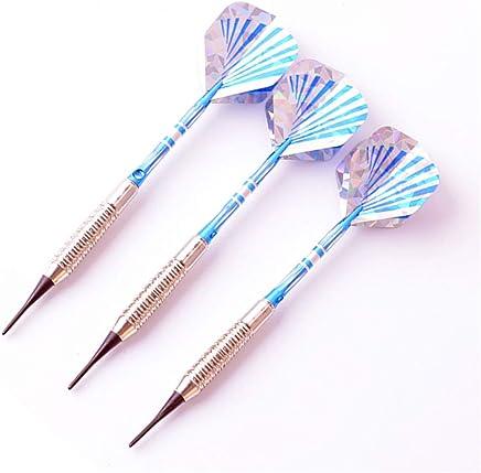 TRSMXYW Dartpfeile,Soft Dartpfeile Mit Kunststoffspitze,Darts 17G Pink Soft Darts Elektronische Soft Tip Darts Mit Aluminiumlegierungsschaft,3 St/ück
