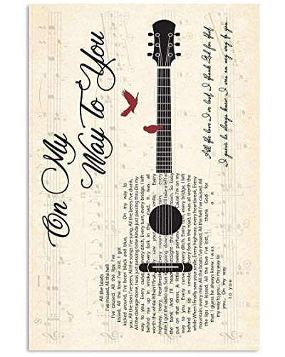 Emma, poster da parete a forma di chitarra #CodyJohnson On My Way to You, motivo: chitarra