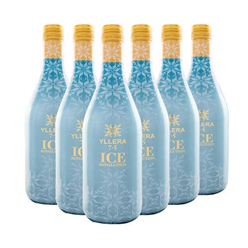 Yllera | Vino Tinto Yllera 7.5 Ice Revolution | Pack de 6 uds | Tempranillo | 75 cl | Vino de Aguja | Aroma a Frutas Rojas y Negras | Dulce y Refrescante |con Finas Burbujas | Vino Español