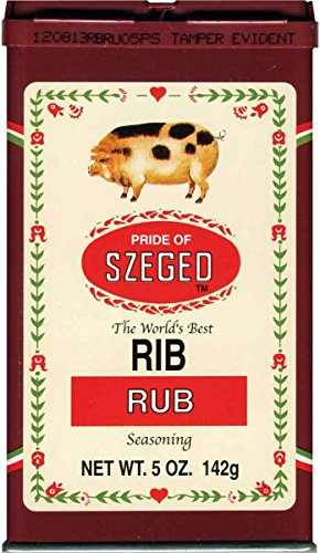 Szeged Rib Rub, 5-Ounce Tins (Pack of 6)