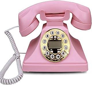 Retro Phone Button Dialing, Creative Fashion Office Home Wired Vintage Retro Telephone Landline Retro Landline