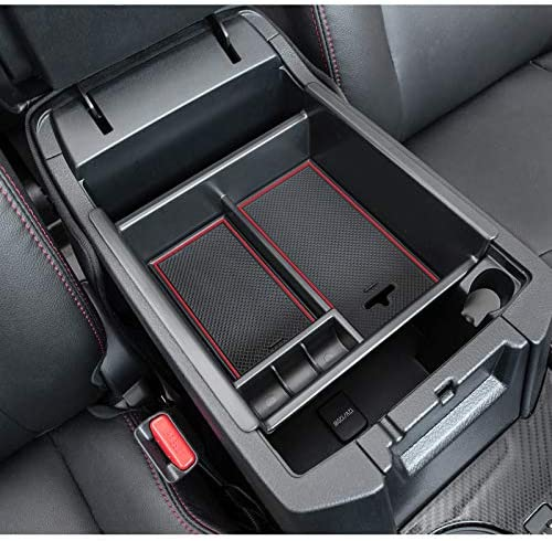 JDMCAR Compatible with Center Console Organizer 4Runner Accessories 2010 2021 Red Trim product image