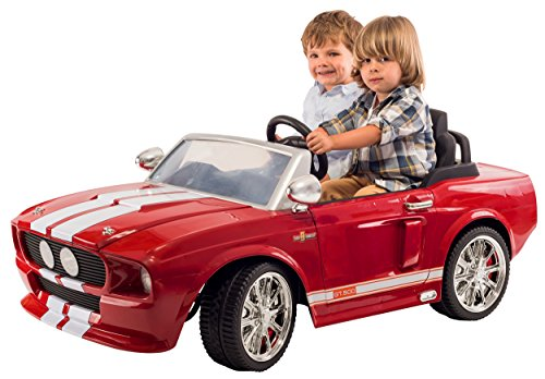 12V 1967 Shelby Mustang GT 500 Two Seater ride on with LEDs and Sounds (Red)