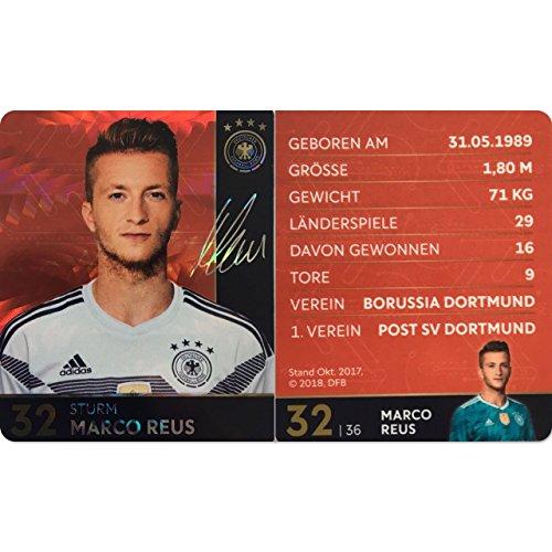 Rewe 2018 WM DFB Russland - Glitzer Einzelkarten Sammelkarten Komplettset (GLITZER KARTE NUMMER 32 - MARCO REUS)