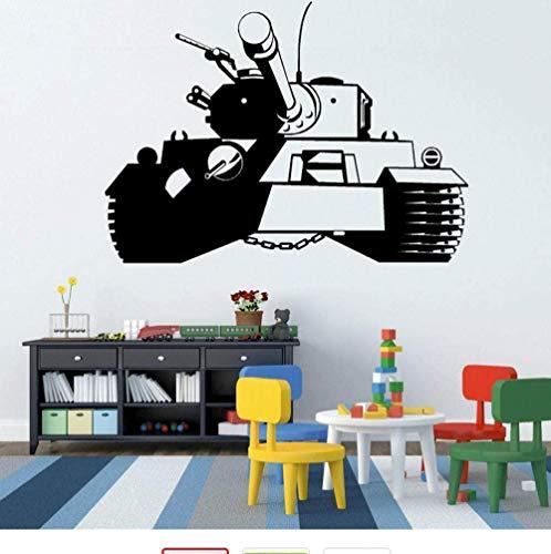 Panzer Armee Panzerwagen Wandaufkleber Kunst Design Wandtattoo Home Wohnzimmer Schlafzimmer Dekoration Wandbild Abnehmbarer Vinyl Aufkleber 81 * 58cm